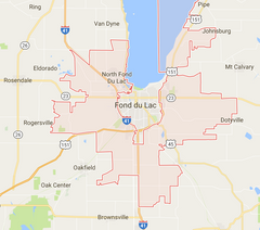 North Fond du Lac Zip Code Map 54937