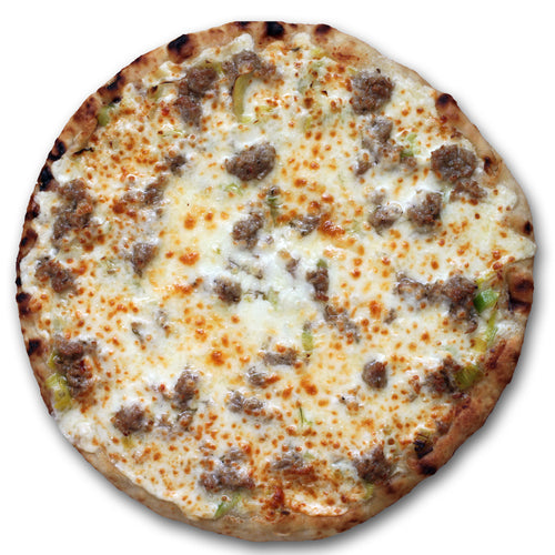 Potato Leek Sausage Pizza - Poco Pizza - Frozen Pizza