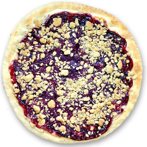 Plum Dessert Pizza