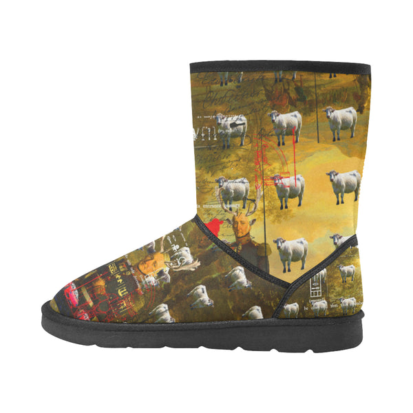 BOVINE Unisex All Over Print Snow Boots