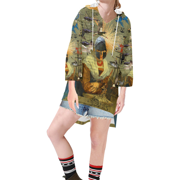 AT THE HARBOUR Unisex Step Hem Tunic Hoodie