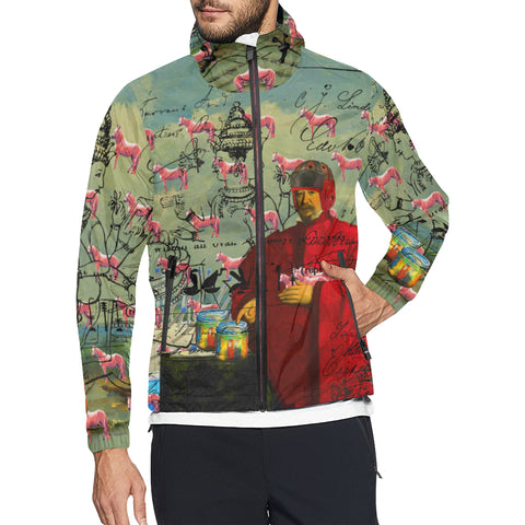 I FOUND THEM IN THERE III All Over Print Windbreaker for Men