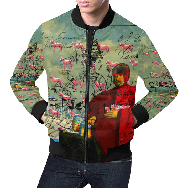 I FOUND THEM IN THERE III All Over Print Bomber Jacket for Men