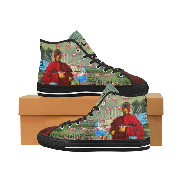 I FOUND THEM IN THERE III Men's All Over Print Canvas Sneakers