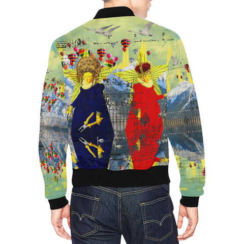 THE LAMPPOST INSTALLATION CREW VIII All Over Print Bomber Jacket for Men