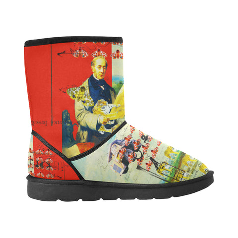 ACCORDING TO PLAN. Unisex All Over Print Snow Boots