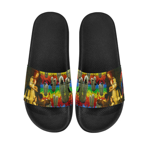 AND THIS, IS THE RAINBOW BRUSH CACTUS. II Men's Printed Slides