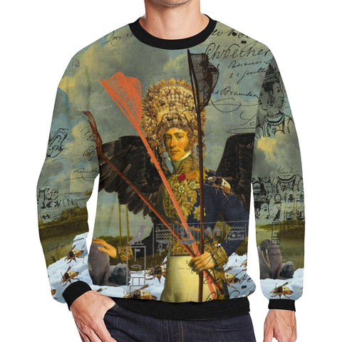 THE YOUNG KING ALT. 2 II Men's Oversized Fleece Sweatshirt