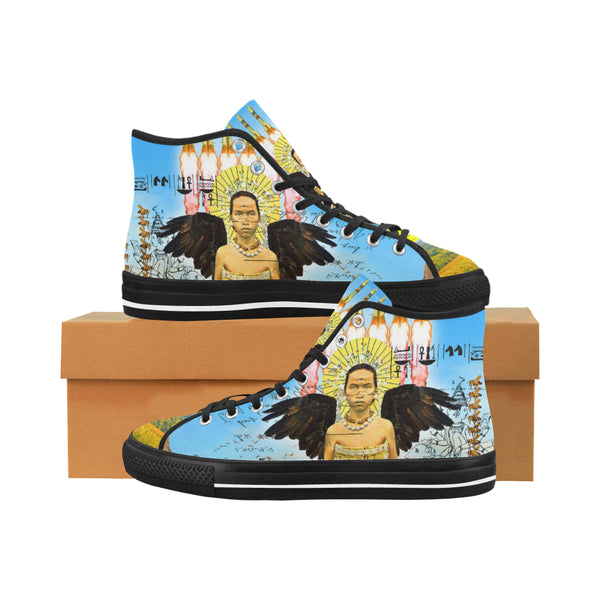 ROCKET GIRL II Women's All Over Print Canvas Sneakers
