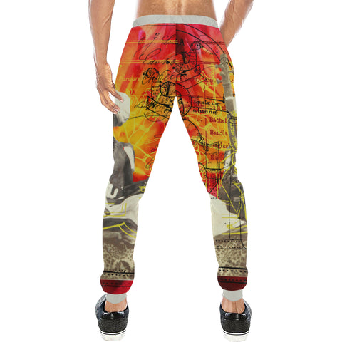 THE SITAR PLAYER Men's All Over Print Sweatpants