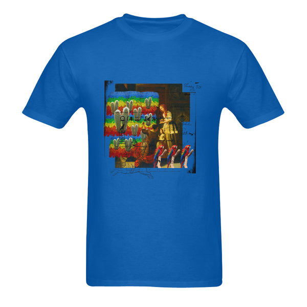 AND THIS, IS THE RAINBOW BRUSH CACTUS. II Sunny Men's Printed Cotton Tee Shirt