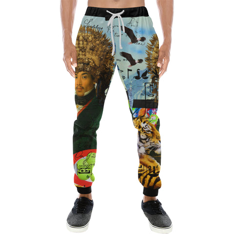 THE EMPEROR OF SNOWY MOUNTAIN III Men's All Over Print Sweatpants