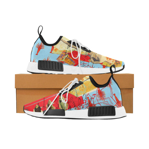 THE SHOWY PLANE HUNTER AND FISH IV Women's All Over Print Running Shoes