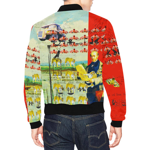 ACCORDING TO PLAN. All Over Print Bomber Jacket for Men