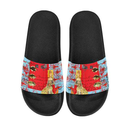 THE SHOWY PLANE HUNTER AND FISH IV Men's Printed Slides