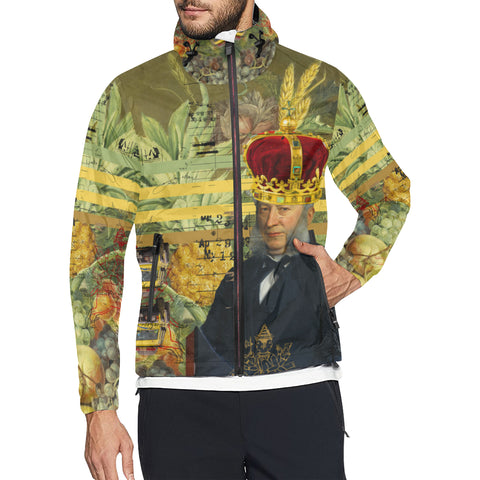 THE FOUR CROWNS All Over Print Windbreaker for Men