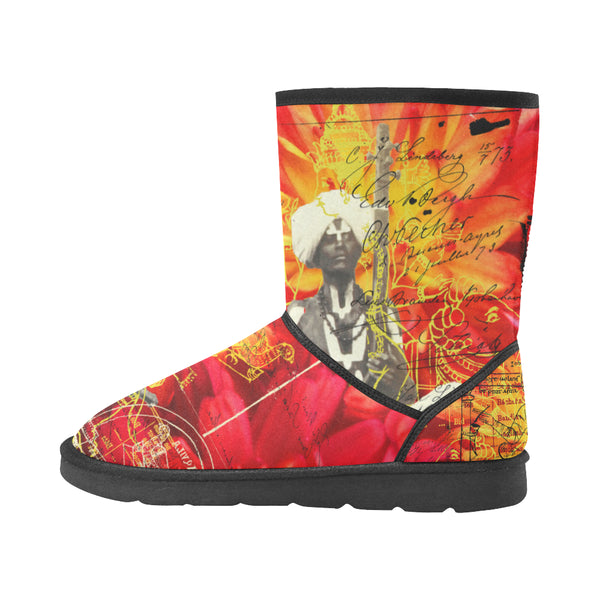 THE SITAR PLAYER Unisex All Over Print Snow Boots