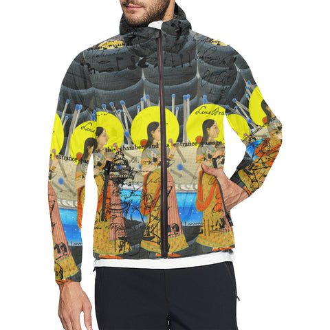 1, 2, 3 V All Over Print Windbreaker for Men
