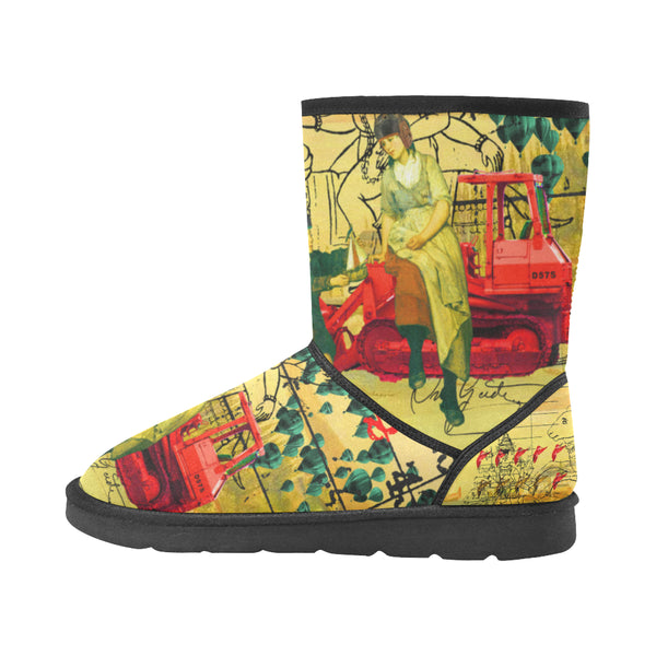 HERE, TAKE IT II Unisex All Over Print Snow Boots