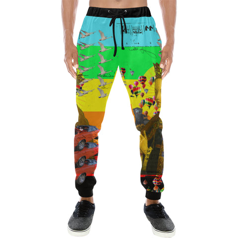 PRAYER Men's All Over Print Sweatpants