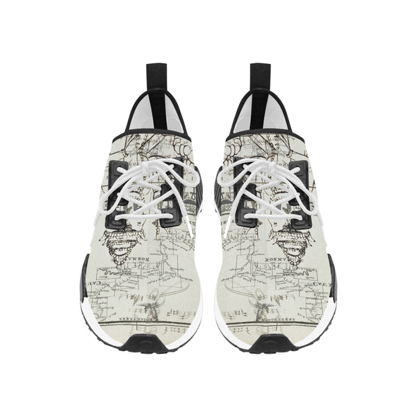 A MAP AND SOME ILLUSTRATIONS Women's All Over Print Running Shoes