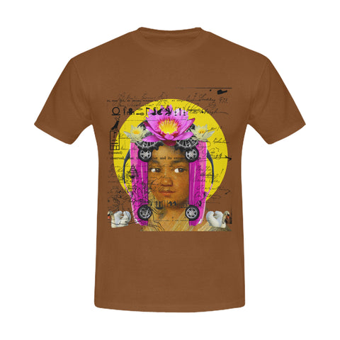 THE BORING HEADDRESS III II II Men's Printed Cotton Tee Shirt