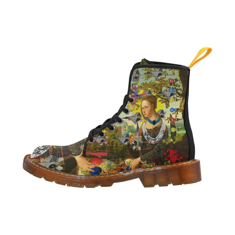 THE PLANE TECHNICIAN / UNPAINTER Men's All Over Print Fabric High Boots