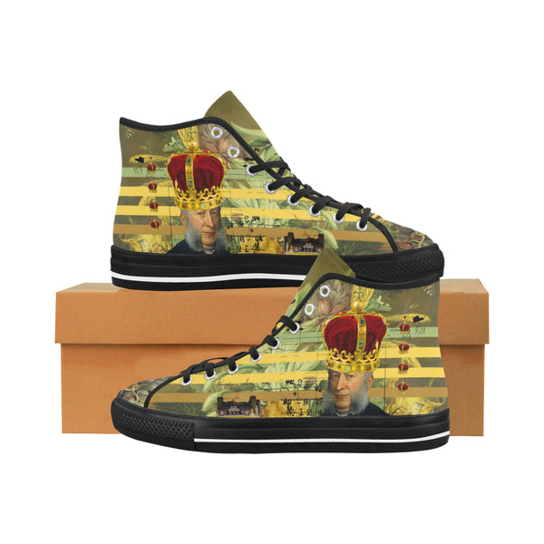 THE FOUR CROWNS Men's All Over Print Canvas Sneakers
