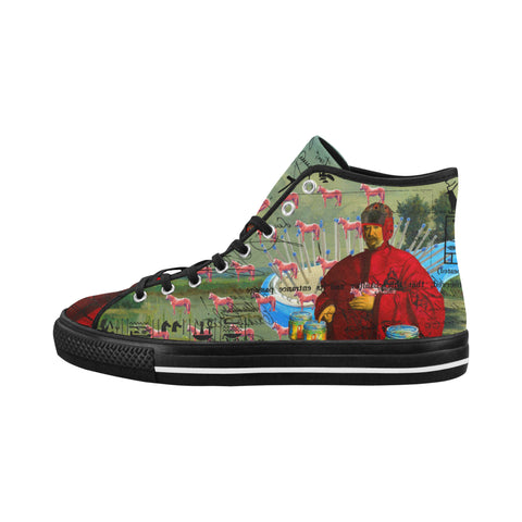 I FOUND THEM IN THERE III Women's All Over Print Canvas Sneakers