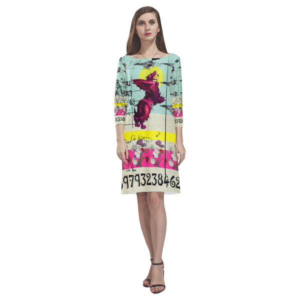 FLOWER POWER II Loose Round Neck Dress