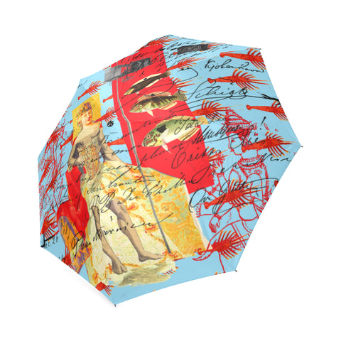 THE SHOWY PLANE HUNTER AND FISH IV Foldable Umbrella