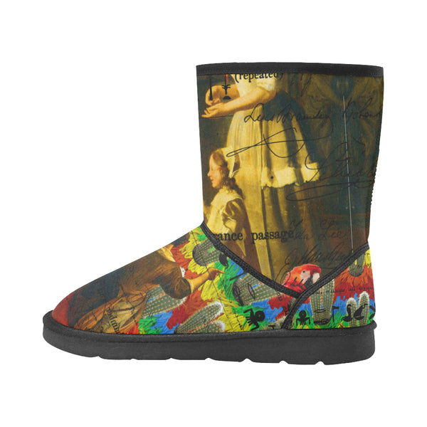 AND THIS, IS THE RAINBOW BRUSH CACTUS. II Unisex All Over Print Snow Boots
