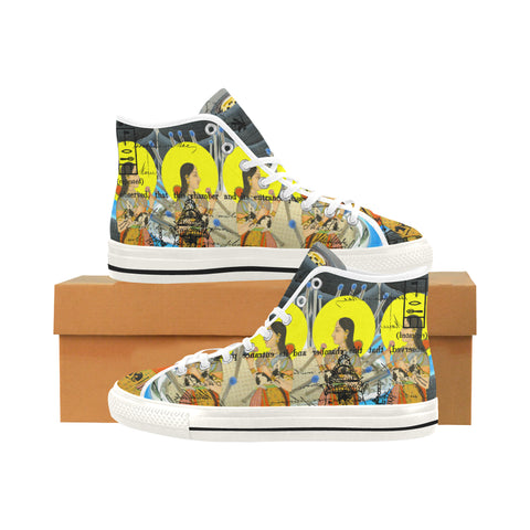 1, 2, 3 V Men's All Over Print Canvas Sneakers