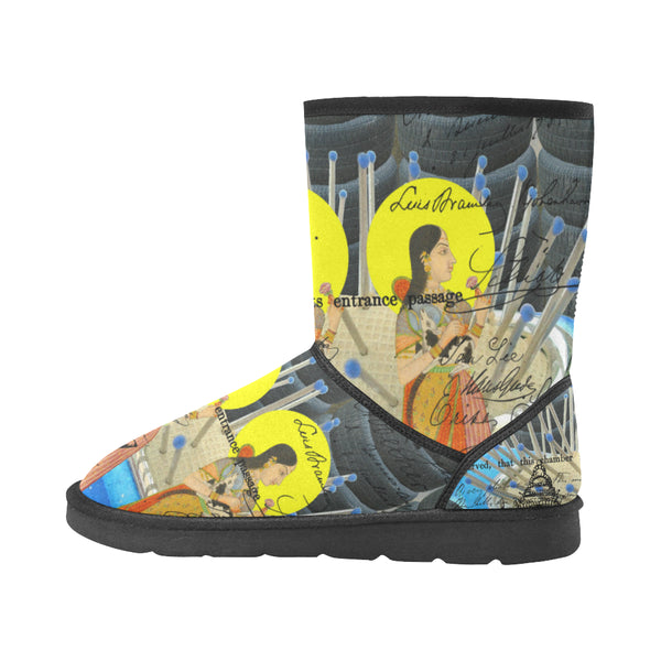 1, 2, 3 V Unisex All Over Print Snow Boots
