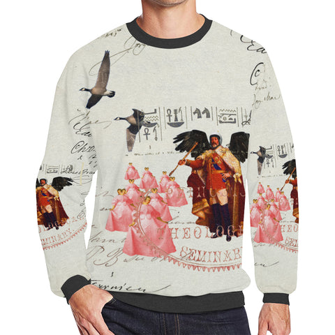 THE KING OF THE FIELD III Men's Oversized Fleece Sweatshirt