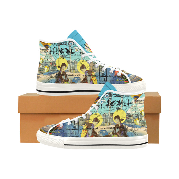 THE CONCERT II Women's All Over Print Canvas Sneakers