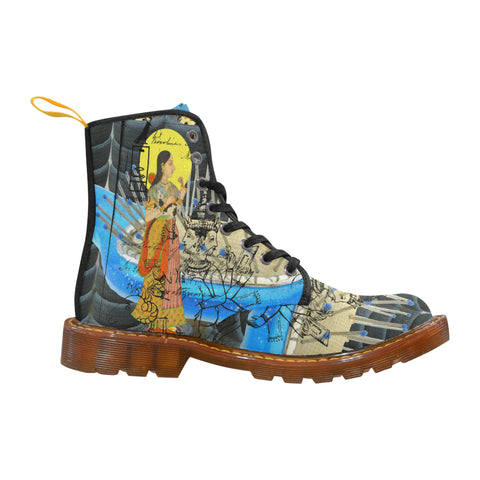 1, 2, 3 V Men's All Over Print Fabric High Boots