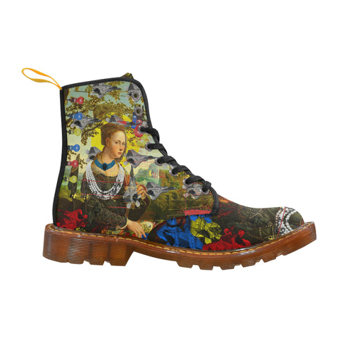 THE PLANE TECHNICIAN / UNPAINTER Women's All Over Print Fabric High Boots