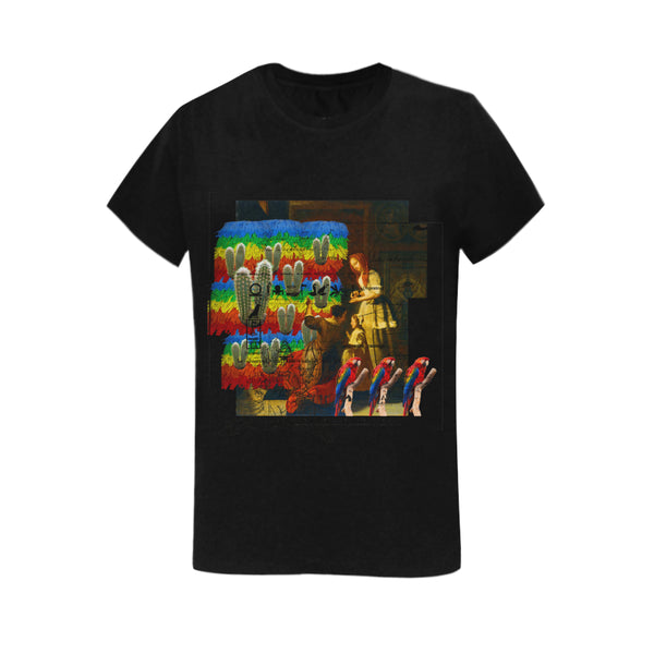 AND THIS, IS THE RAINBOW BRUSH CACTUS. II Women's Printed Cotton Tee Shirt