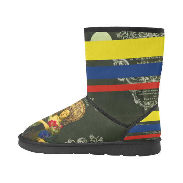 THE FLOWERS OF THE QUEEN Unisex All Over Print Snow Boots