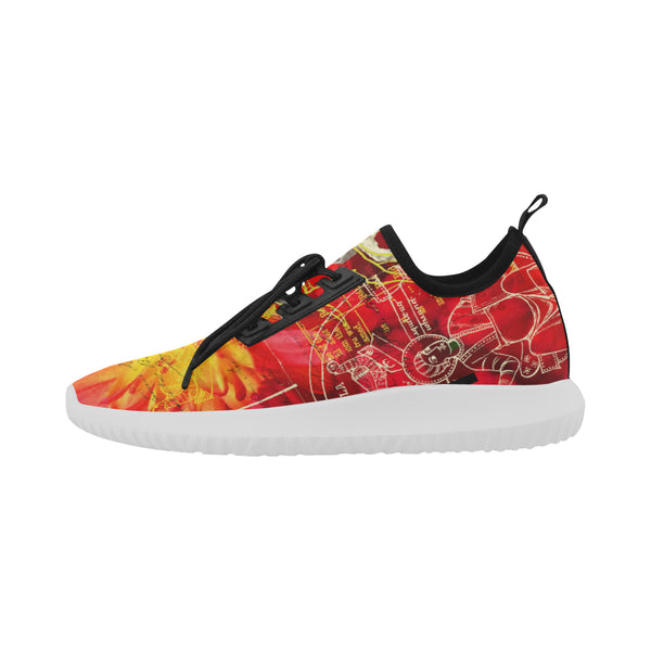 THE SITAR PLAYER  Ultra Light All Over Print Running Shoes for Women