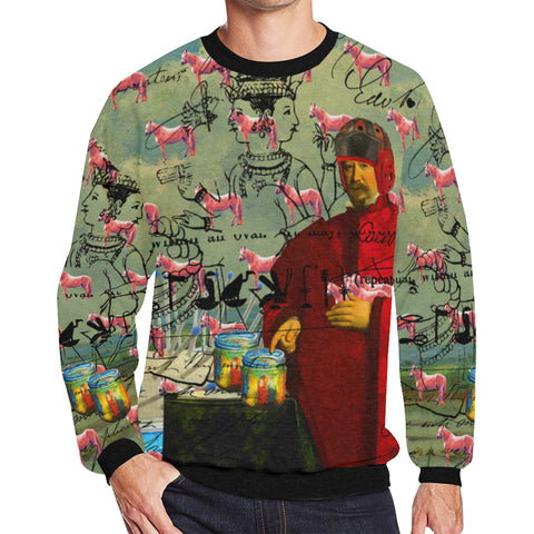 I FOUND THEM IN THERE III Men's Oversized Fleece Sweatshirt