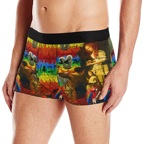 AND THIS, IS THE RAINBOW BRUSH CACTUS. II Men's All Over Print Boxer Briefs