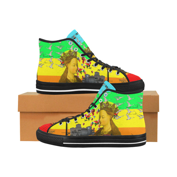 PRAYER Men's All Over Print Canvas Sneakers