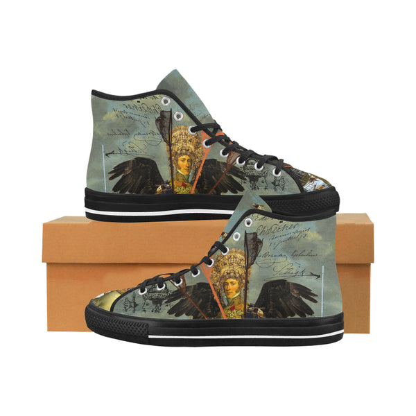 THE YOUNG KING ALT. 2 II Men's All Over Print Canvas Sneakers