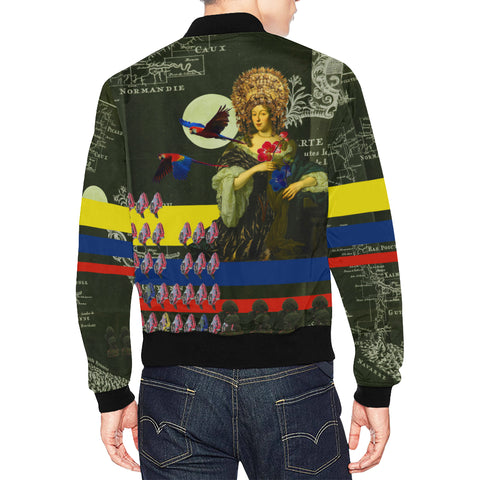 THE FLOWERS OF THE QUEEN All Over Print Bomber Jacket for Men