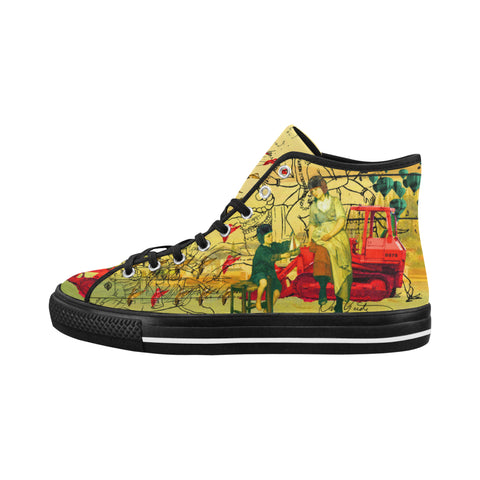 HERE, TAKE IT II Women's All Over Print Canvas Sneakers