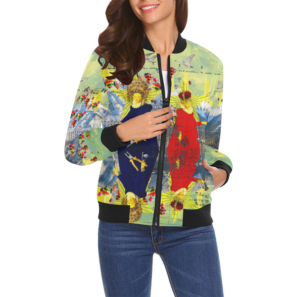 THE LAMPPOST INSTALLATION CREW VIII All Over Print Bomber Jacket for Women