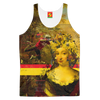 IT'S ALL ABOUT THE YELLOW FLOWER HEADDRES Women's All Over Print Tank Top