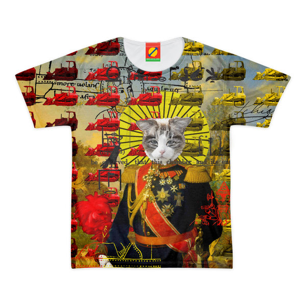 HOLY CATMEN WITH RED AND YELLOW Women's All Over Print Tee